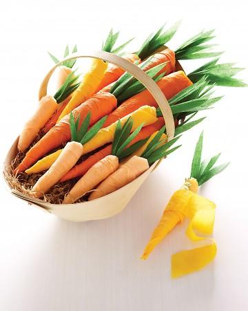 Crepe Paper Carrots - Easter Decorating Ideas in Pictures & How-To Examples