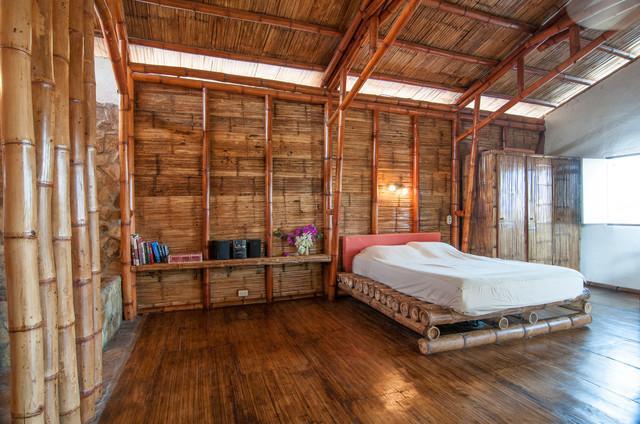 Nature Friendly Bamboo House Design: Eco-friendly-bedroom-interior-design
